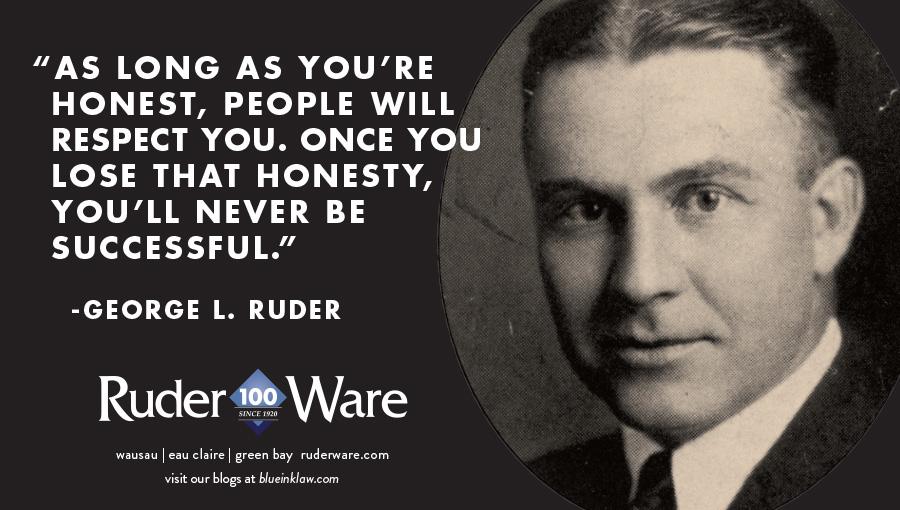 George Ruder 100 year print ad